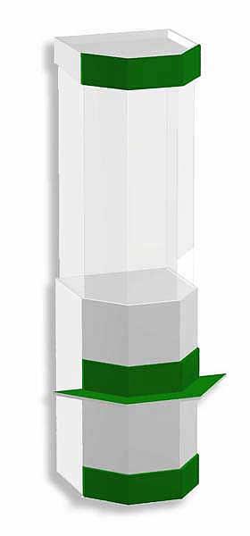 Внутренний угол для передней линии витрин ANB. Стыкует витрины под углом 90гр. ЛДСП, кромка ПВХ. Используется для хранения товарного запаса. Размер 464х464х2184мм
