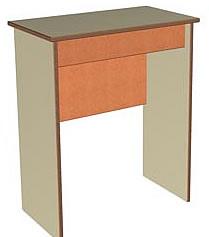 Столик покупателя для зала аптеки. Размер 624*352*752(Н). Материалы: ЛДСП 2-х цветов (основной и декор),кромка ПВХ 0,4 и 2,0мм.